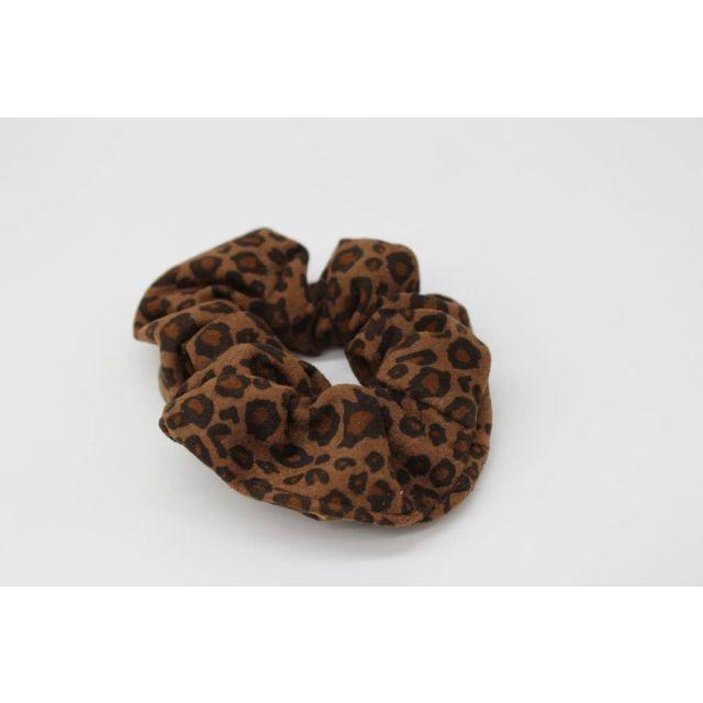 Hair scrunch leopard Darkbrown