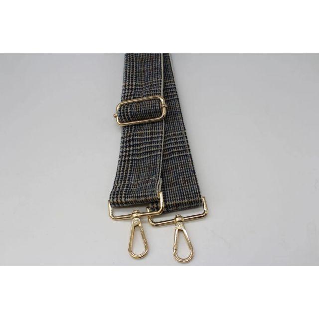 Bag strap tweed Lightblue