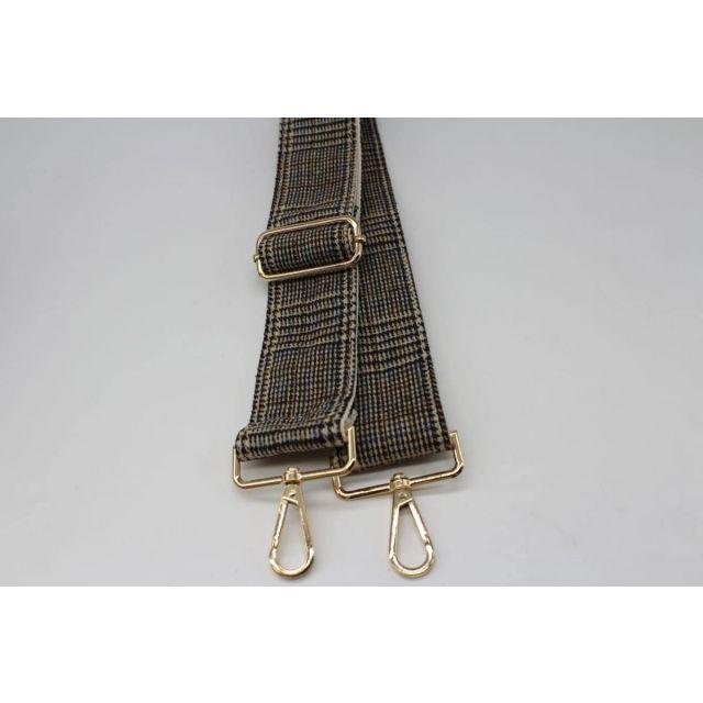 Bag strap tweed Lightbrown