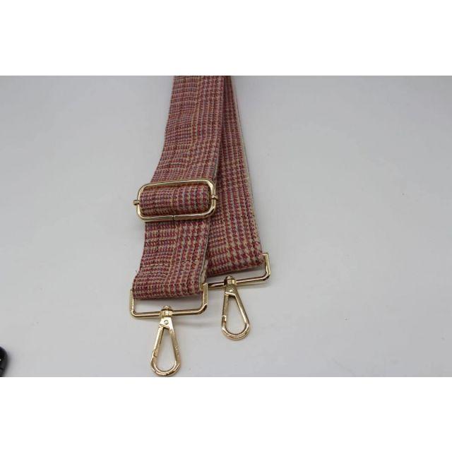 Bag strap tweed Lightpink
