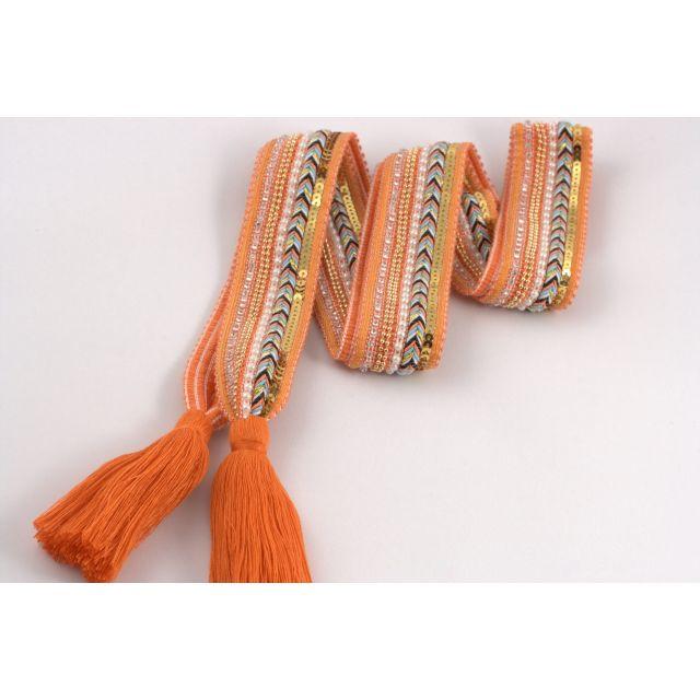 Belt knit tassle Orange
