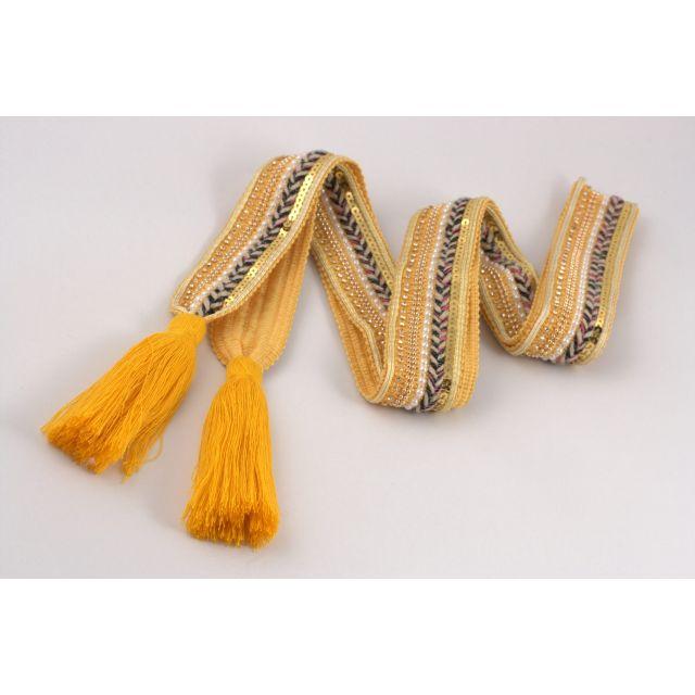 Belt knit tassle Yellow