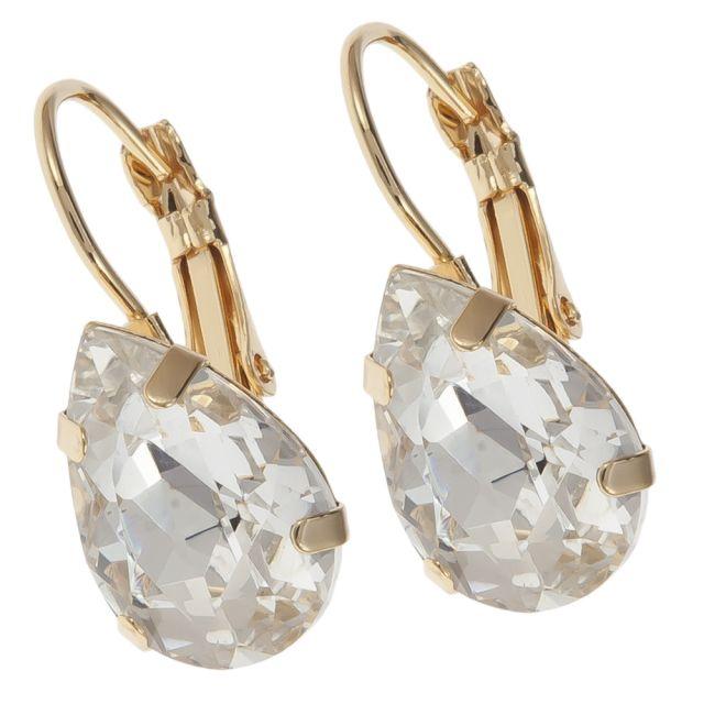 Valerie hook ear gold Clear
