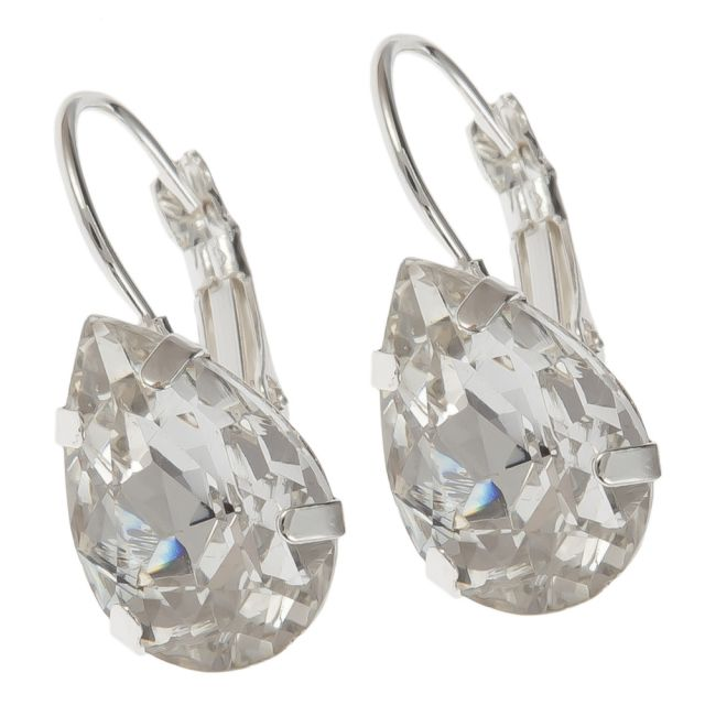 Valerie hook ear silver Clear