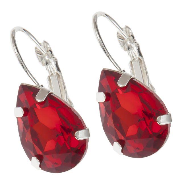 Valerie hook ear silver Red
