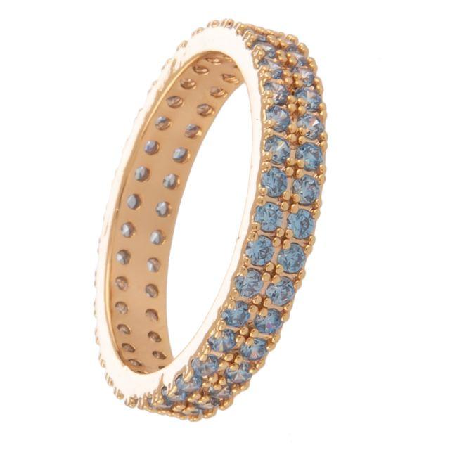 Whistler ring 19 double gold Lightblue
