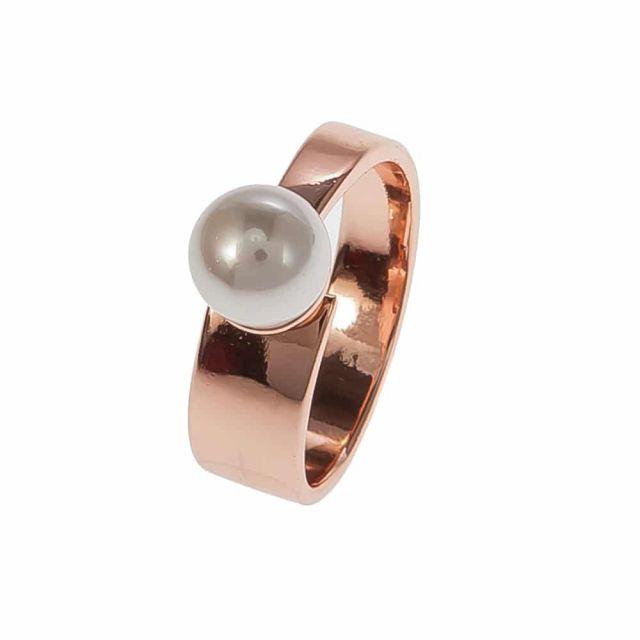 White ring 18 Rose