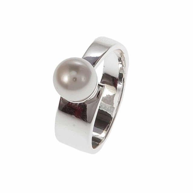 White ring 18 Silver
