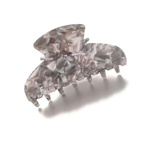 Hairclip oval 7cm Grey
